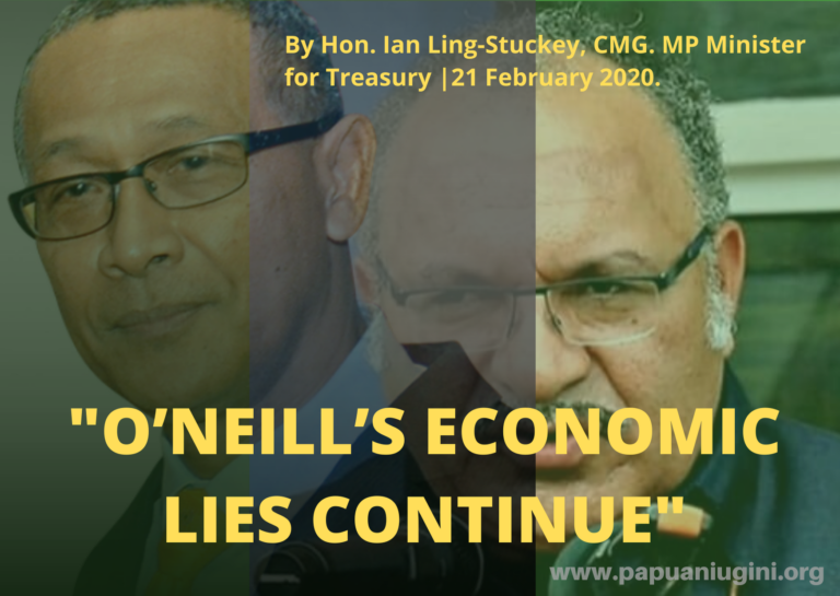 O'NEILL'S ECONOMIC LIES CONTINUE – THE TRUE DEBT STORY PNG NEEDS TO KNOW