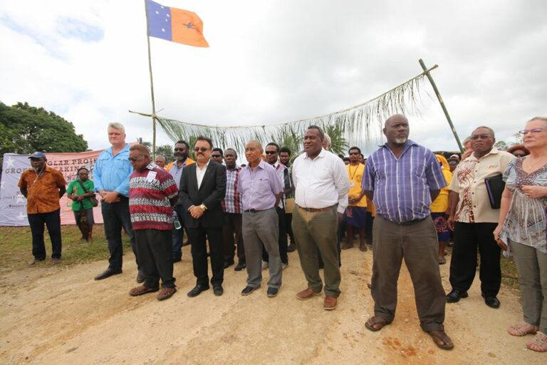 The 0.4 Megawatts Solar Power Plant Project for Namatanai Township Launched