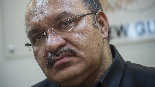 FORMER PRIME MINISTER PETER O'NEILL WAS ARRESTED BY THE POLICE