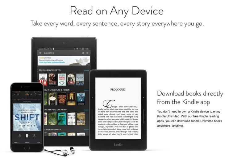 Kindle Unlimited – Explore over 1 million titles, thousands of audiobooks and selected magazine subscriptions on any device