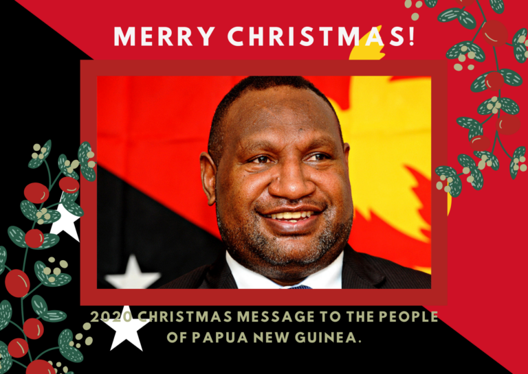 PMJM: 2020 CHRISTMAS MESSAGE TO THE PEOPLE OF PAPUA NEW GUINEA.