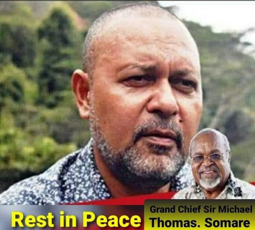 Tribute to Sir Michael Thomas Somare By Deputy PM Sam Basil.