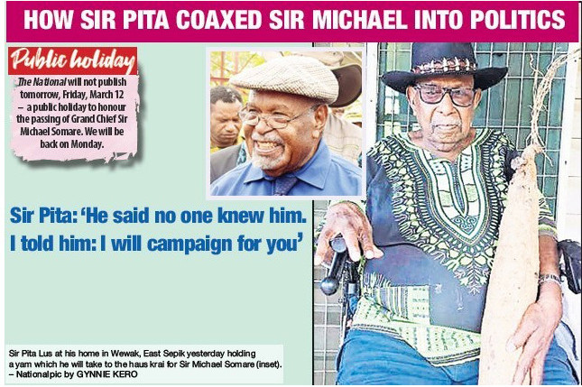The man who coaxed a young Michael Somare into politics more than 50 years ago speaks.