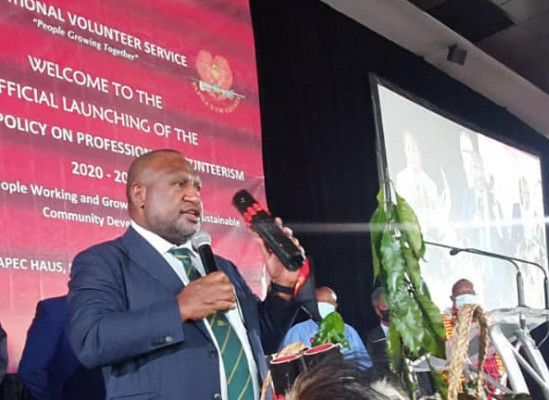 James Marape is calling on all public servants' currently working to think about going into volunteer service